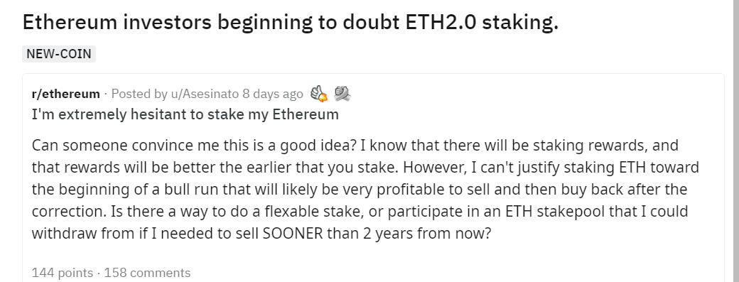 ETH2.0质押挖矿遇冷?大型交易所的Staking或许值得你参与