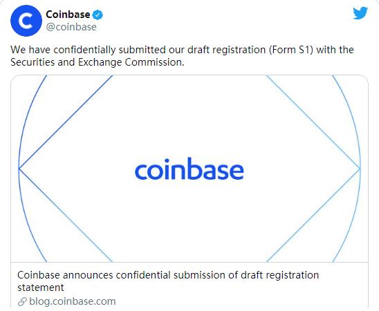 什么?Coinbase要准备上市了!