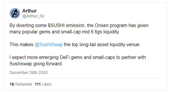 DeFi新玩法丨Sushi要成为DEX界的币安?了解一下草根驱动型创新——温泉计划