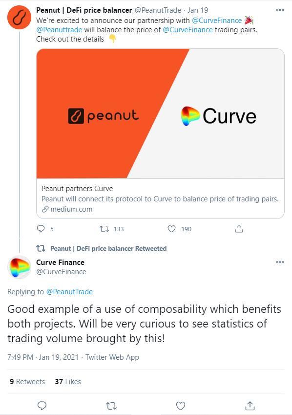 DeFi新玩法丨Peanut和Curve达成合作,它能给Curve带来什么?