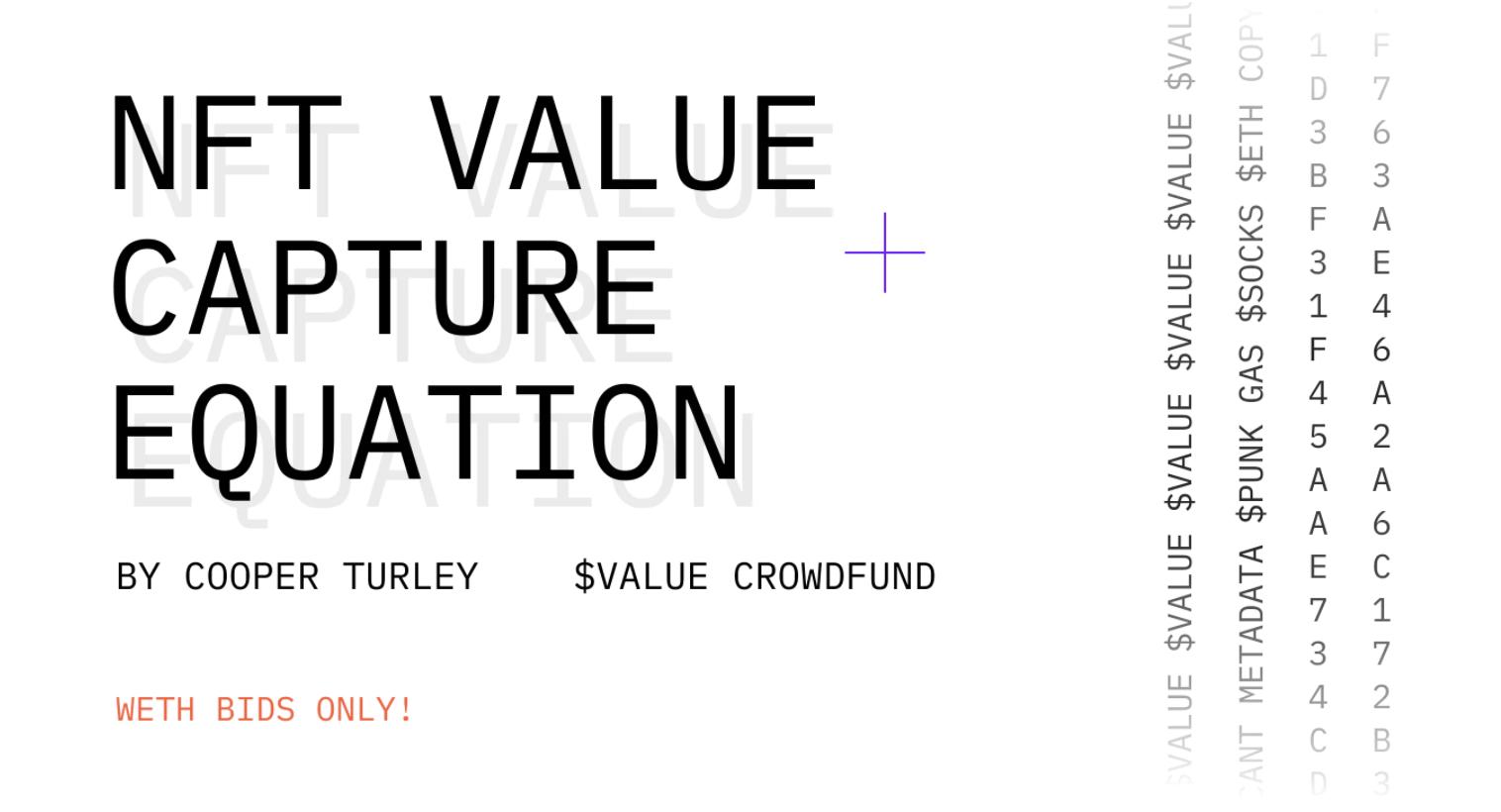 NFT从哪里获取价值?价值捕获公式了解一下