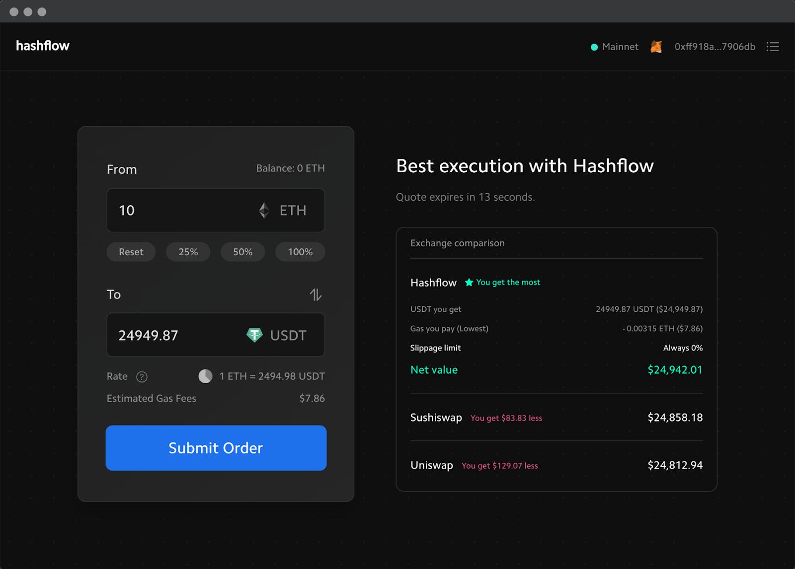 DeFi新玩法 | 3分钟了解DeFi专业做市商协议Hashflow