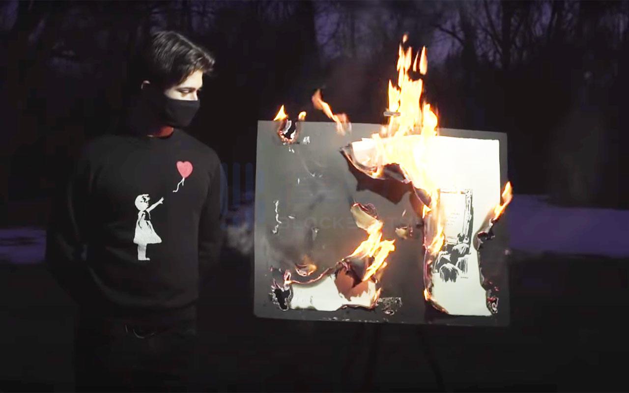 我可以把毕加索的画烧掉,做成NFT吗?