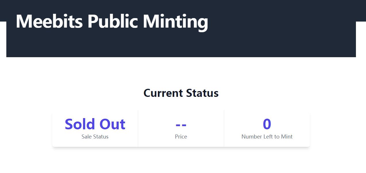 疯狂?Cryptopunks开发团队第三个NFT项目Meebits推出即被抢空