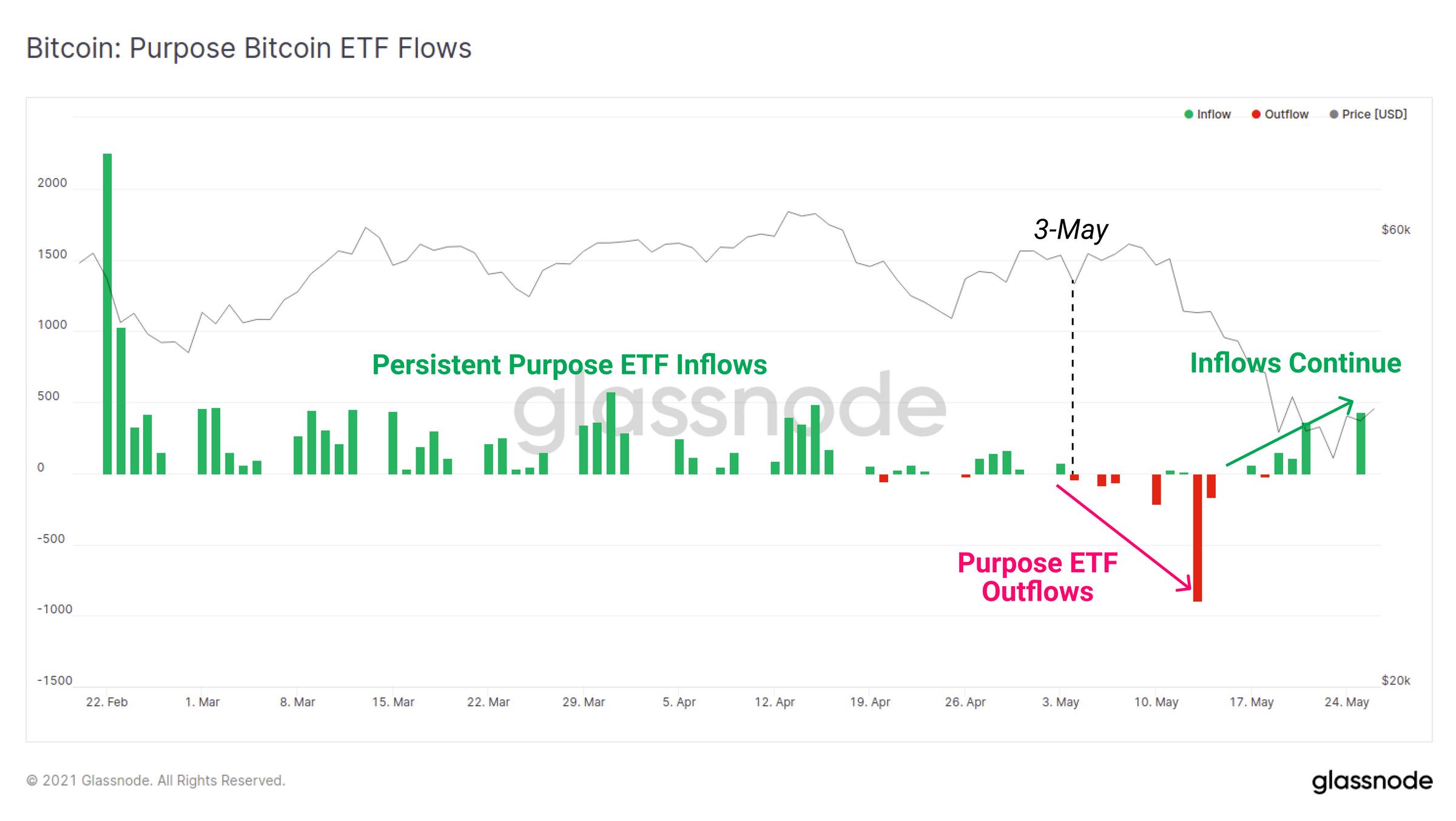 Purpose ETF流入实时图表