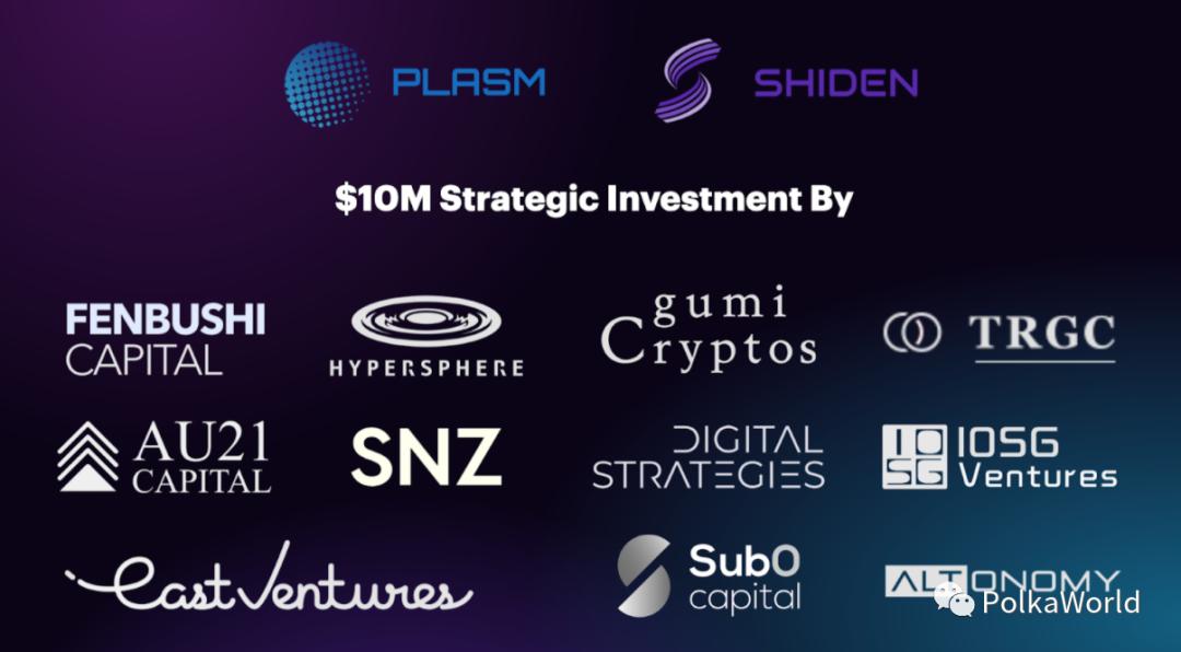 Plasm & Shiden 背后的 Stake 科技完成 1000 万美元的战略融资!