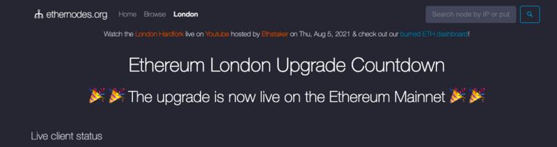 以太坊完成伦敦升级,开启「通缩」新纪元