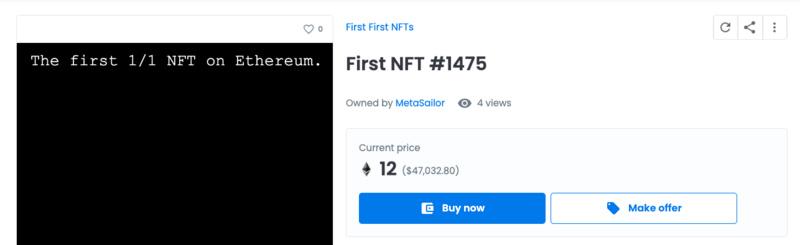 日内交易量超过Loot,「First First NFTs」究竟是什么?